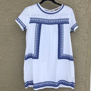 Linen pattern shift dress
